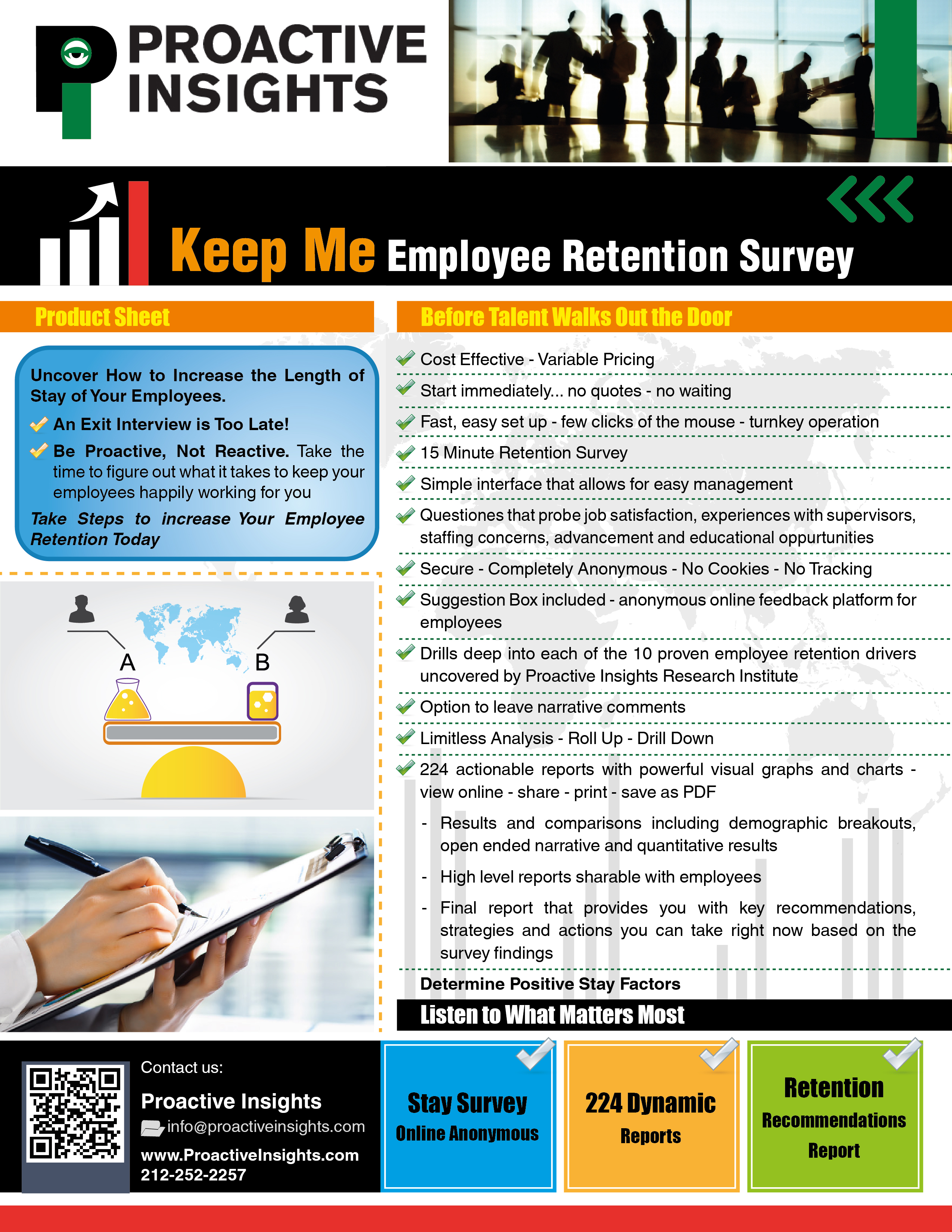 Keep Me Survey Brochure