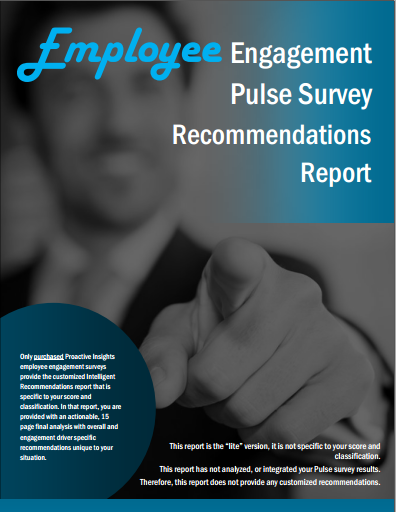 Pulse Survey Recommnedation Report